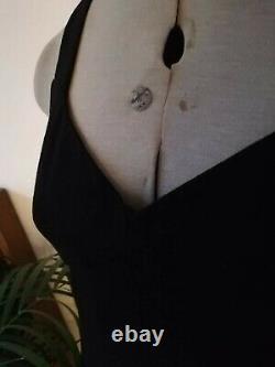 D&G Dolce & Gabbana desigbers vintage dress Black Dress open back pencil it42 8