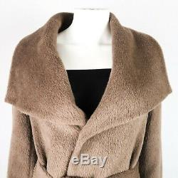 Dawn Levy New Hannah Taupe Brown Wool Collared Coat Jacket Belt Size XS
