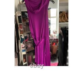 Diane Von Furstenberg Dvf Purple Runway Hooded Dress Gown