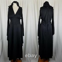 Disguise Limit Black Hooded Steampunk Ball Gown Dress Womens 6 Medieval Gothic