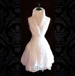 ELAN Bubble-Hem Wrap Cocktail Dress Size S