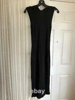 EUC Dolce & Gabbana Long Black Hooded Sleeveless Stretchy Dress sz 28/42 US 6