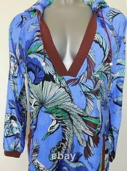 Emilio Pucci Dress, Kaftan It 38, Uk 6-8 Us 4 Jungle Print, Hooded Cover Up Bnwt