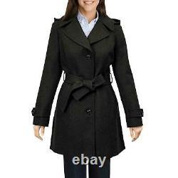 Fast shipping London Fog women's Black Wool Walker dress Coat Brand New