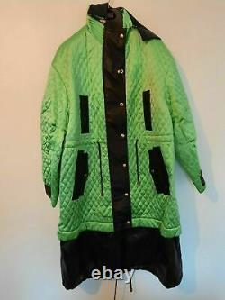Fausto Puglisi Quilted Hooded Long Coat, Green, Uk Sizes 8. 10. 12, Nwt, Rrp£2900