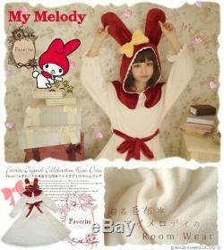 Favorite Sanrio My Melody Room Roungewear Fluffy Blanket Dress Hood oc1063 Red