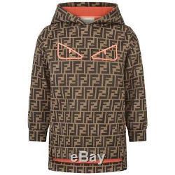 Fendi Kids Girls Hooded Logo Dress 6 Years