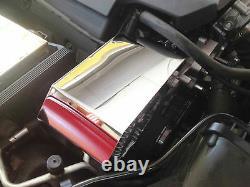 Fit Corvette C7 2014-2019 Base Polished Stainless ALTERNATOR COVER engine chrome