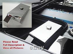 Fits Corvette C5 1997-2004 Stainless Steel 2 Pc FUSE BOX COVER with CHROME CAP LS1