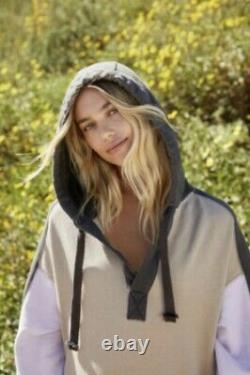 Free People Movement Maxi Sweatshirt Hoodie Spur Of The Moment Colorblock M NWT