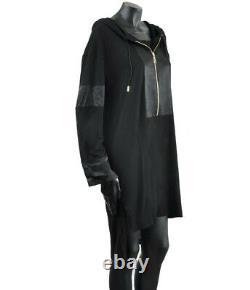 GIVENCHY Black Silk Blend Hooded Dress Tunic