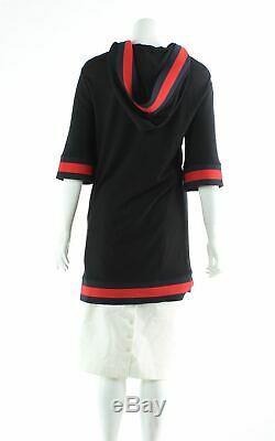 GUCCI Black Web Trim Hooded Mini Casual Dress, Size S