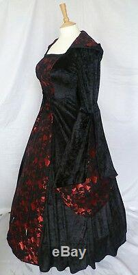 Gothic Dress Renaissance Hooded Wedding Gown Medieval Dress Custom made to size