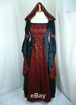 Gothic Wedding Dress Medieval Hooded Dress Custom made to size