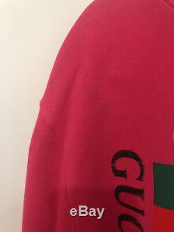Gucci Girls Pink Hooded Sweatshirt Dress Age 10 Years with Gucci box & receipt