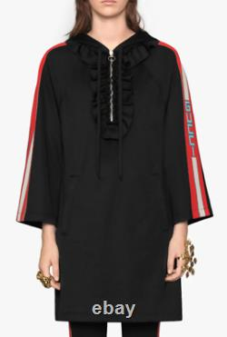 Gucci Hooded jersey Dress- With Tags- RRP$2,100 AUD