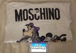 H&M MOSCHINO H&MOSCHINO Disney Hooded Hoodie Dress White Oversized Small BNWT