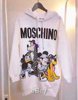 H&M Moschino HMoschino Hooded Dress White Size XS Extra Small