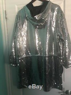 H&M Moschino Sequined Dress/Jacket Hooded Size M BNWT