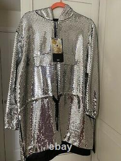H&M Moschino Sequined Hooded Dress Brand NEW With tags Size M