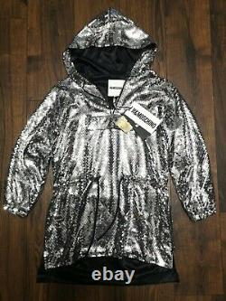 H&M Moschino Sequined Hooded Dress Brand Size XS NWT Jeremy Scott