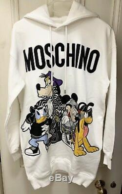 H&Moschino white disney hooded dress, Sold out! , Size XS (Oversize style)