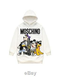 H&m Moschino Tv Oversized Sweater Dress With Hood White Ready To Ship Sizes S M