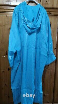 H&m Ss2020 Conscious Chiffon Wide Turquoise Hooded Kaftan Bloggers Sold Out