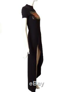 HOOD BY AIR-Black Jersey Knit Maxi Dress, Size-XS