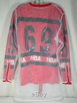 HOOD BY AIR HBA Women's Red White Black Zip Up Sweater Dress Kylie Jenner Small