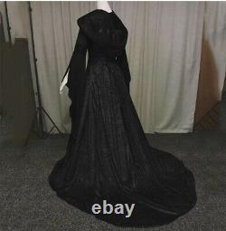 Halloween Costumes Women Witch Cape/Renaissance Hooded Dress/ Mid-evil/ Wrench