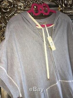 Haute Hippie Nude Silk Cashmere Knit Dress Hooded Hoodie Top Knit Knitted S New