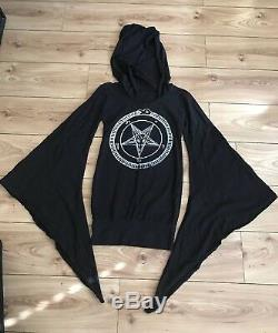 Hooded Pentagram Mini Dress Sexy Occult Metal Biker Punk Goth Halloween Baphomet