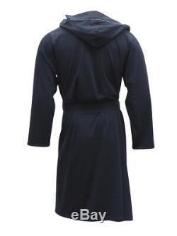 Hugo Boss Men's Identity Hooded Cotton Dressing Gown Robe