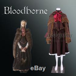 Hunter Doll Selfie Dress Game Bloodborne Cosplay Costume Hooded Cloak Full Set