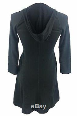 Ibex Womens Merino Wool Hooded Dress Size XS Ling Top New Zealand Black Pocket
