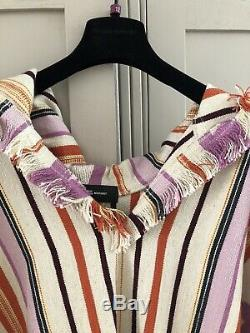 Isabel Marant Pilen Striped Hooded Poncho Size M £860