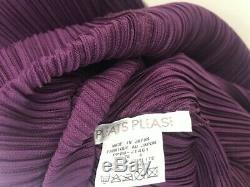 Issey Miyake hooded dress purple size 4