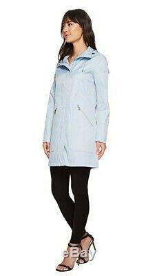 Ivanka Trump Women's, front pocket/ Hooded Raincoat, Sky blue, Size XS, NWT