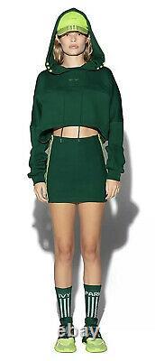 Ivy Park X Adidas Drip 2 In Hand Green Hooded Cutout Dress Size Medium
