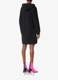 Kenzo Paris Peony Hoodie Sweatshirt Dress Black Small New