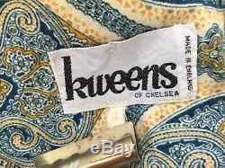 Kweens of Chelsea 60s Pixie Hippy Kings Rd Vintage Dress Kaftan Hood Paisley