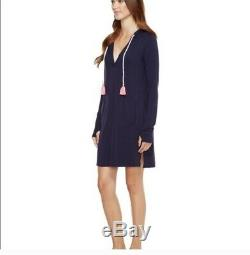 LILLY PULITZER UPF 50+ Rylie Cover-Up Dr True Navy NWT XS