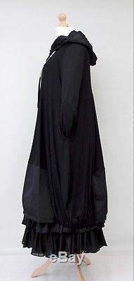 Lagenlookzedd. Plushooded 2 Pockets Long Dress+petticoatblackbust Up To 54