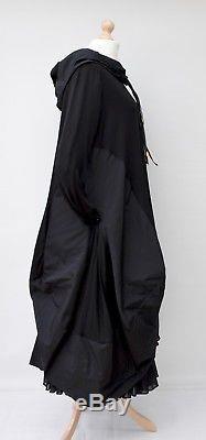Lagenlookzedd. Plushooded Balloon Long Dress+petticoatblackbust Up To 52
