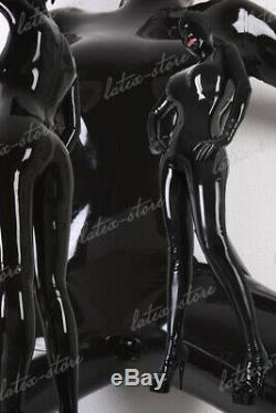 Latex Catsuit Rubber Gummi Full Body Hood Mask Mouth Open Leotard Customize. 4m