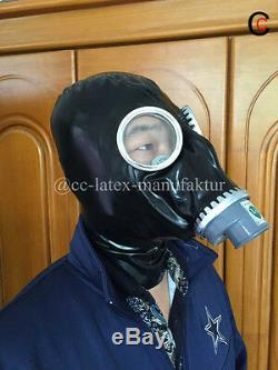 Latex Rubber Gas Mask Fancy Dress Gas Hood Cosplay Costumes