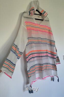 Lemlem Hooded Sheer dress / Kaftan Size M Worn Once