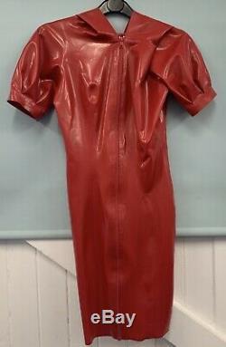 Libidex Latex Scarlet Dress. Medium. Black. Fetish/Gummi/Hood