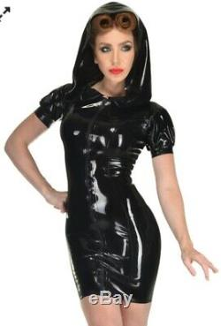Libidex Latex Scarlet Dress. Small. Black. Fetish/Gummi/Hood